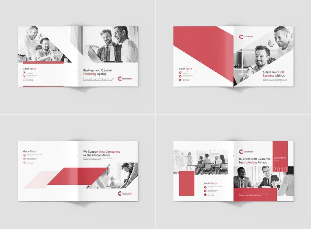 企业商务宣传手册模版素材下载Business Marketing Company Profile Square插图(9)