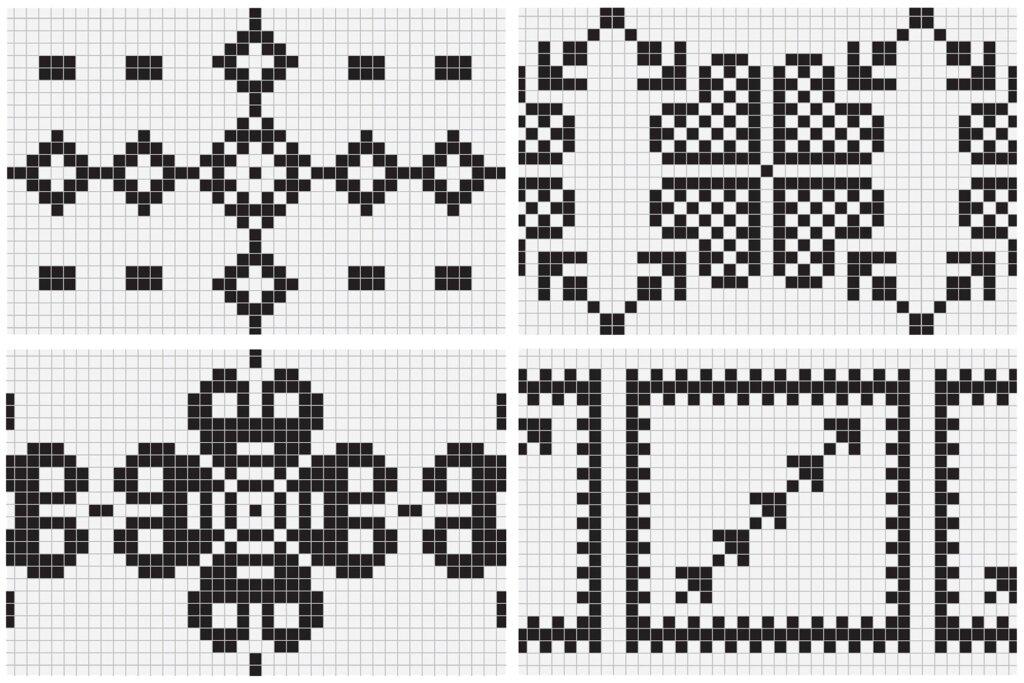 20个刺绣风格矢量图案素材纹理素材Embroidery Style Vector Patterns插图(8)