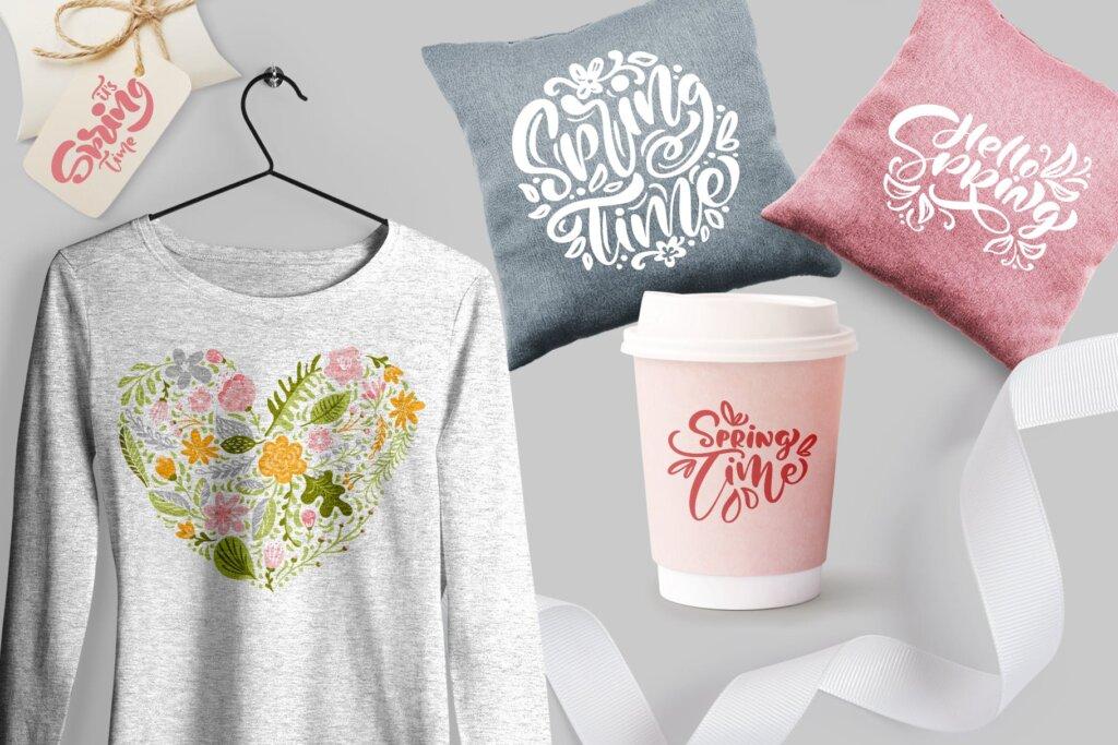 品牌标志图案纹理/品牌包装装饰图案纹理素材Fresh Feeling Spring Vector Kit SVG插图(9)