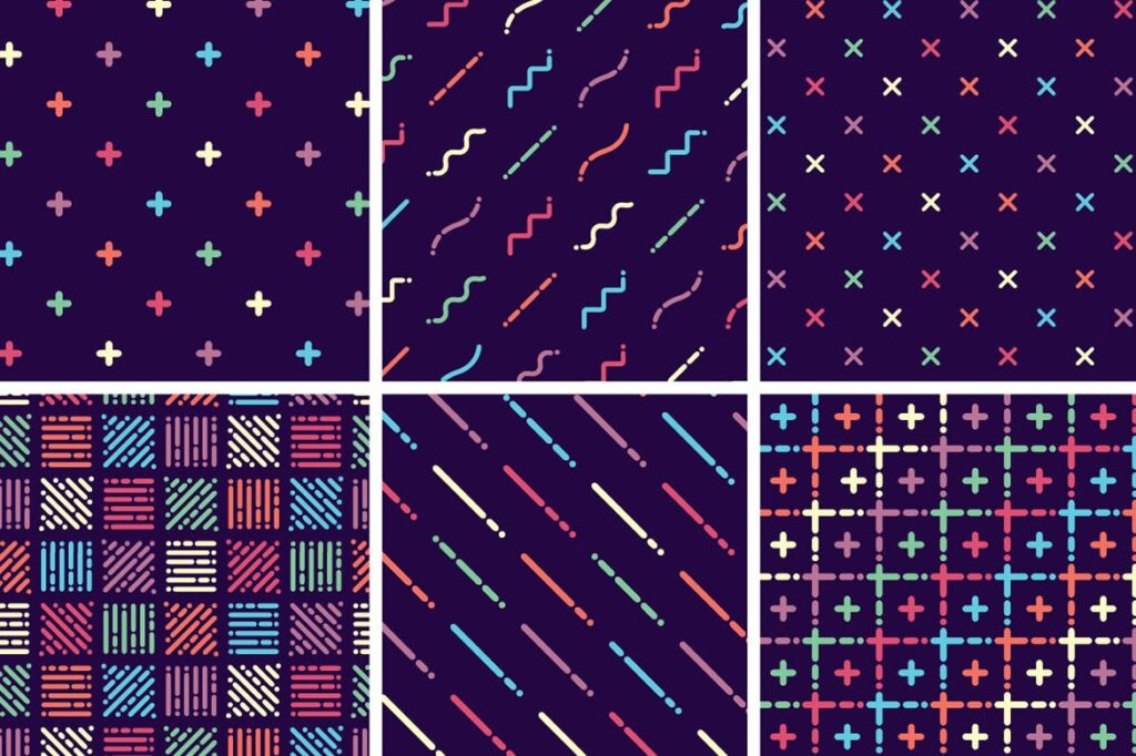 精致几何图案品牌装饰图案纹理Liquid Repeat Patterns插图(8)