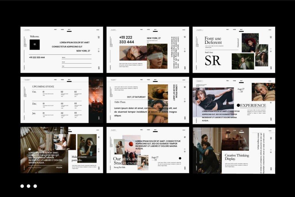 企业商务汇演素材PPT幻灯片模板Serendipity Modern Fashion Design Powerpoint插图(7)