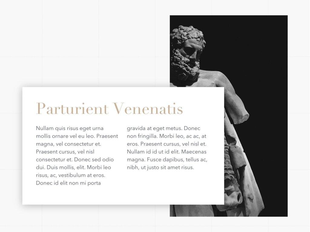 石膏像艺术概念主题幻灯片PPT模板素材下载Antique PowerPoint Template插图(10)