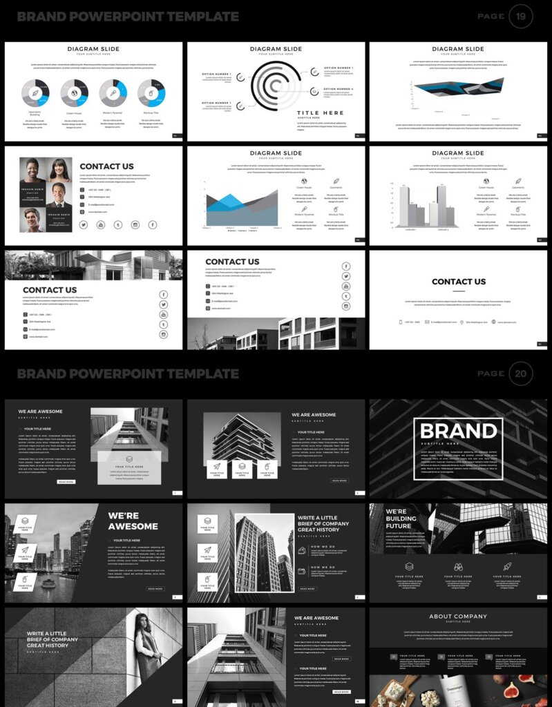美食品牌幻灯片PPT模板素材下载Brand PowerPoint Presentation Template插图(10)