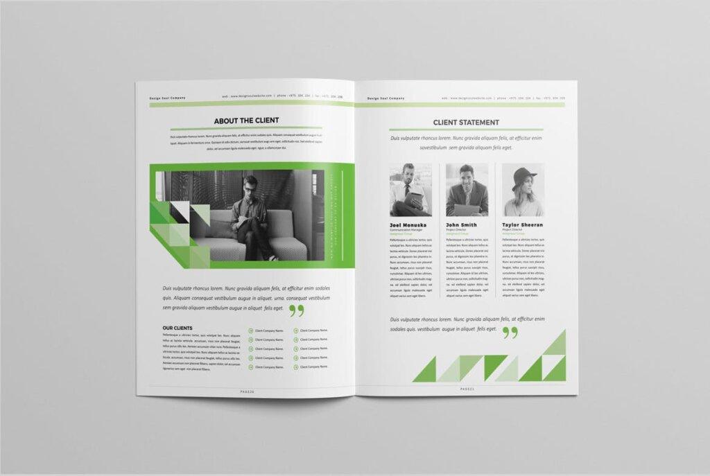 绿色环保简约杂志手册模板素材下载UXZT87插图(9)