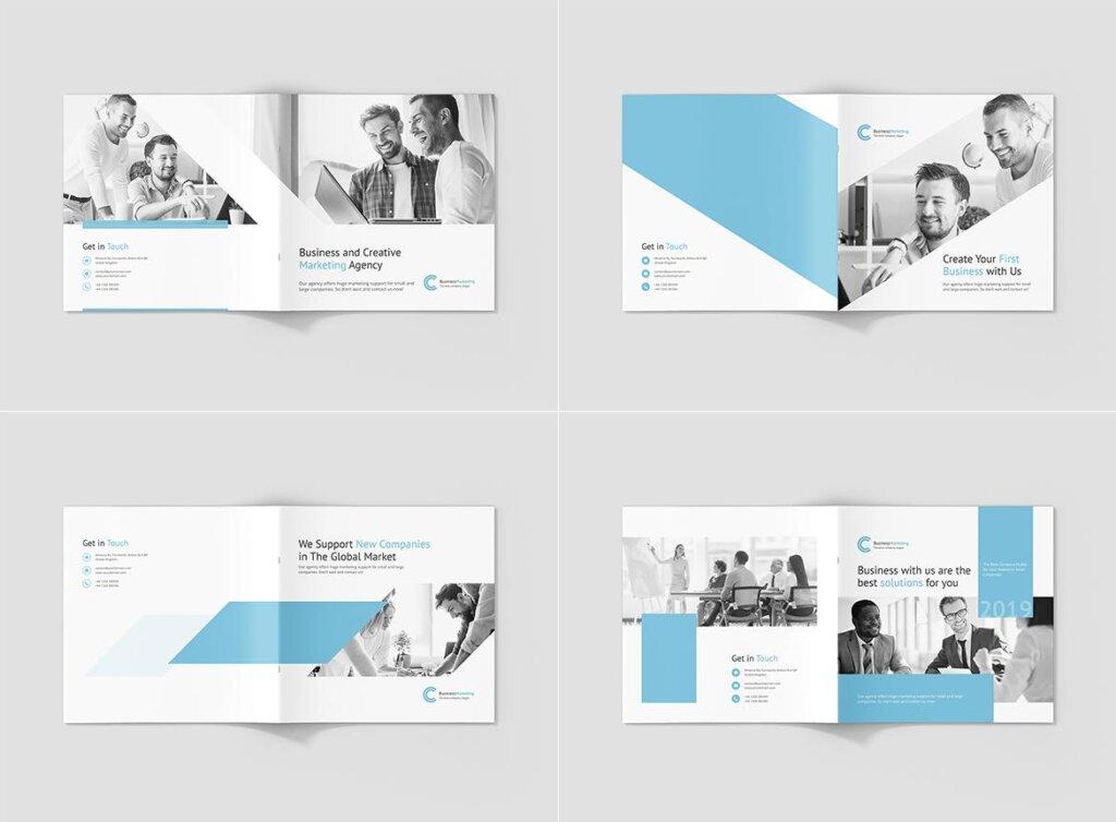 企业商务宣传手册模版素材下载Business Marketing Company Profile Square插图(10)