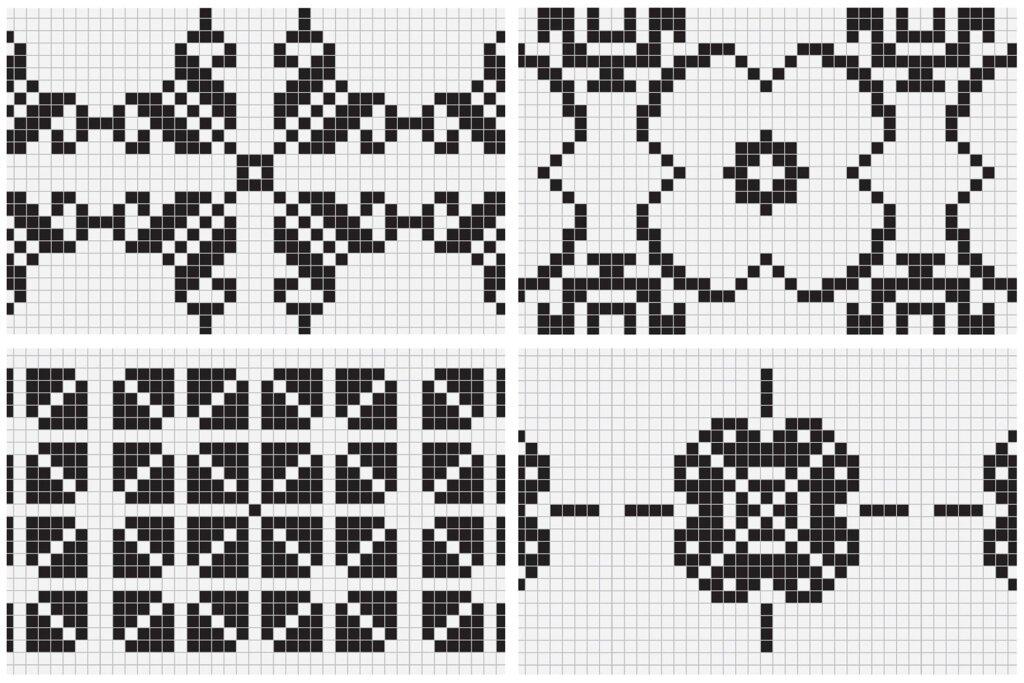 20个刺绣风格矢量图案素材纹理素材Embroidery Style Vector Patterns插图(9)