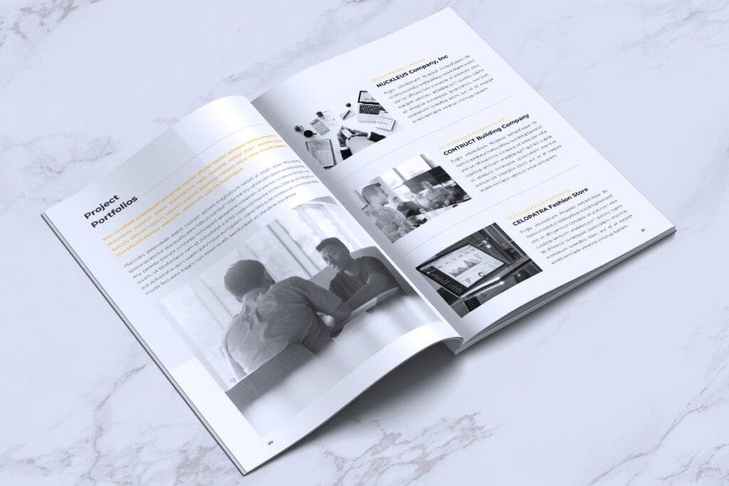 企业产品手册画册模板素材下载INFORM Company Profile Brochure插图(10)
