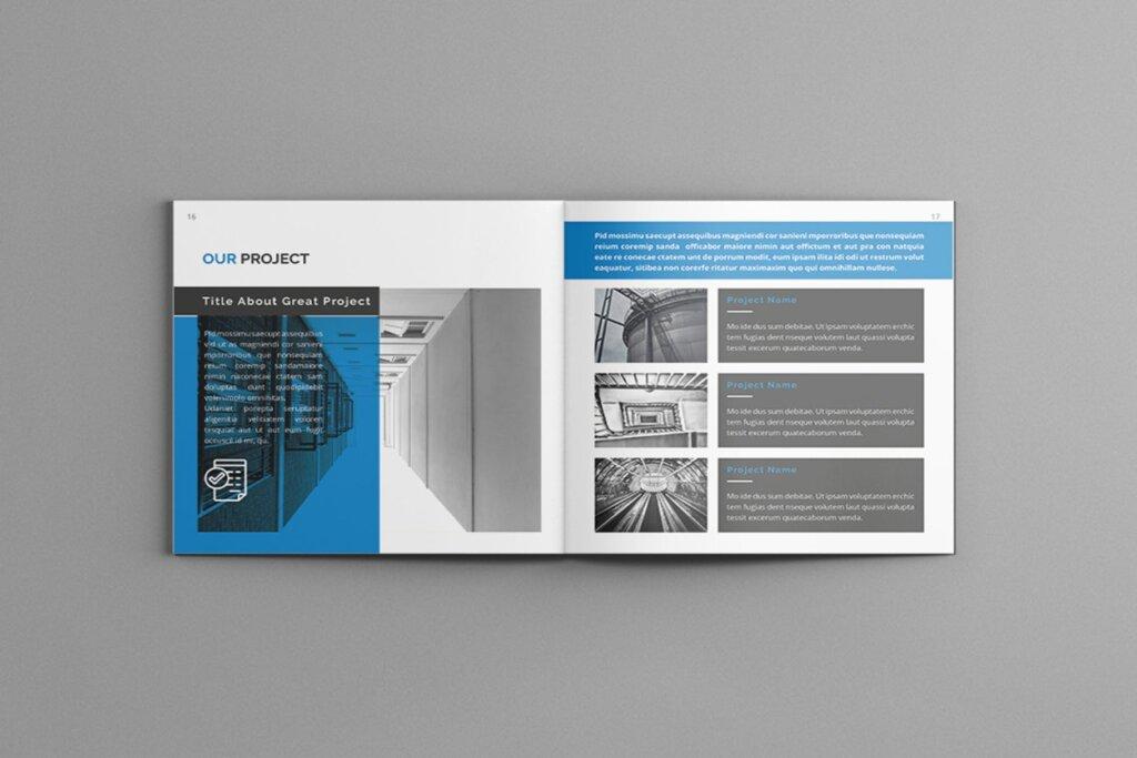 公司简介品牌宣传小册子模板素材Mavka Square Company Profile Brochure Template插图(7)