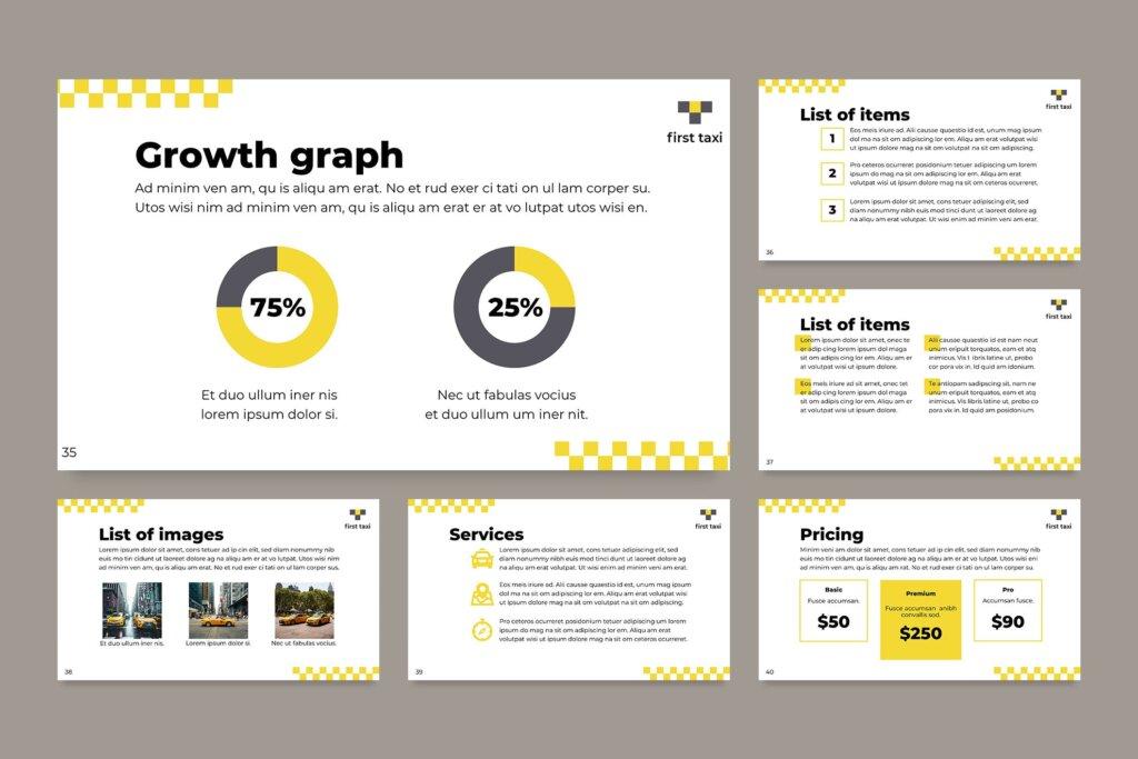 出租车行业数据大调查数据汇报幻灯片PPT模版Taxi Services PowerPoint Presentation Template插图(10)