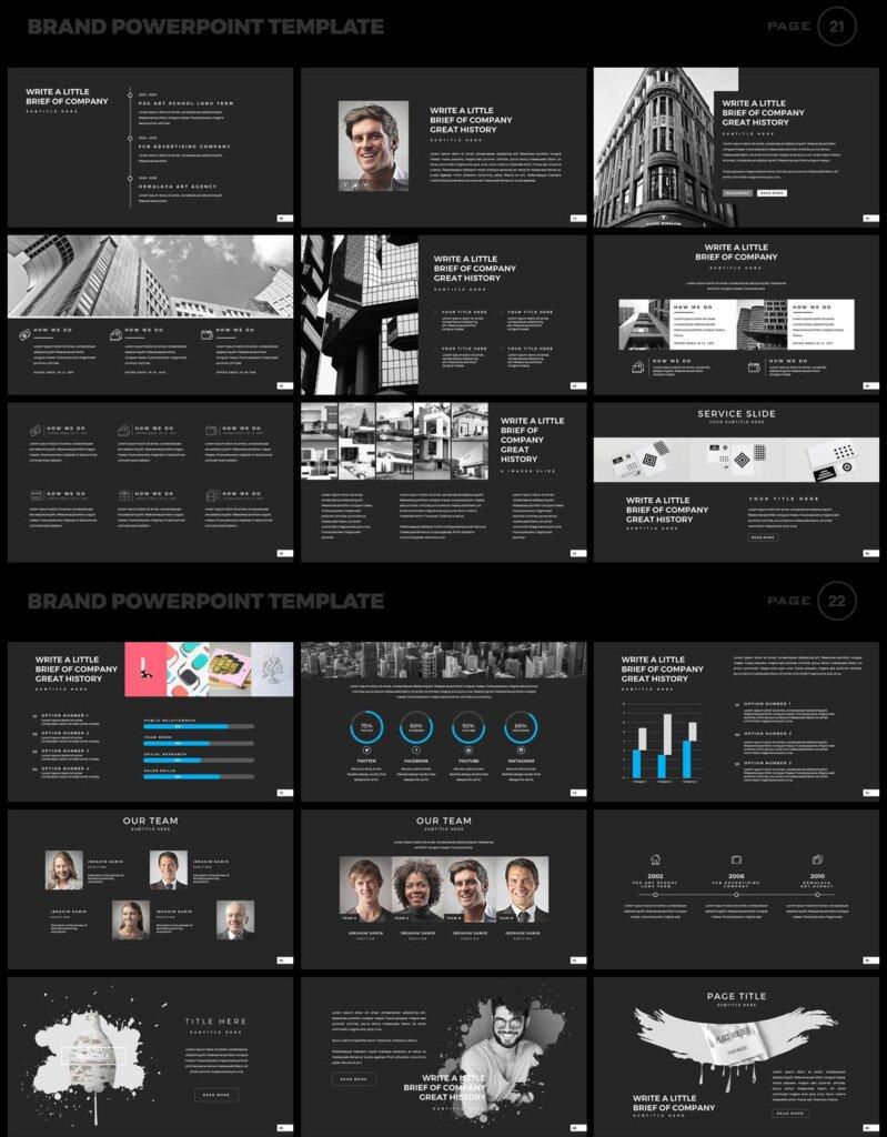 美食品牌幻灯片PPT模板素材下载Brand PowerPoint Presentation Template插图(11)