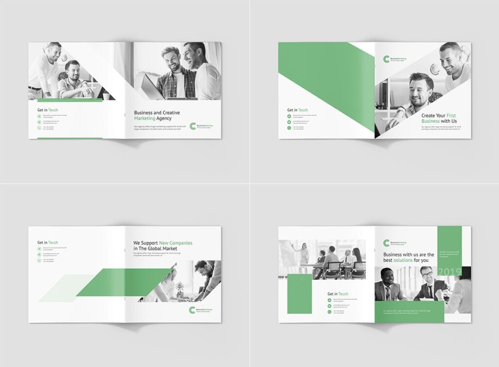 企业商务宣传手册模版素材下载Business Marketing Company Profile Square插图(11)