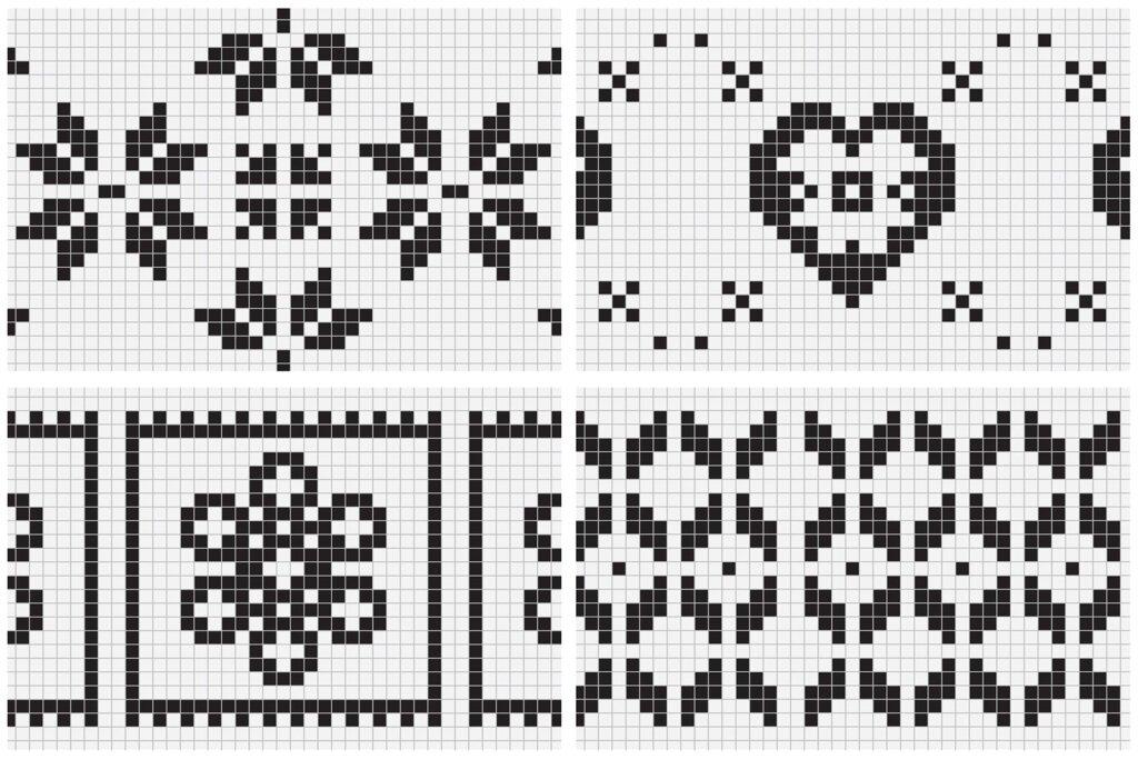 20个刺绣风格矢量图案素材纹理素材Embroidery Style Vector Patterns插图(10)