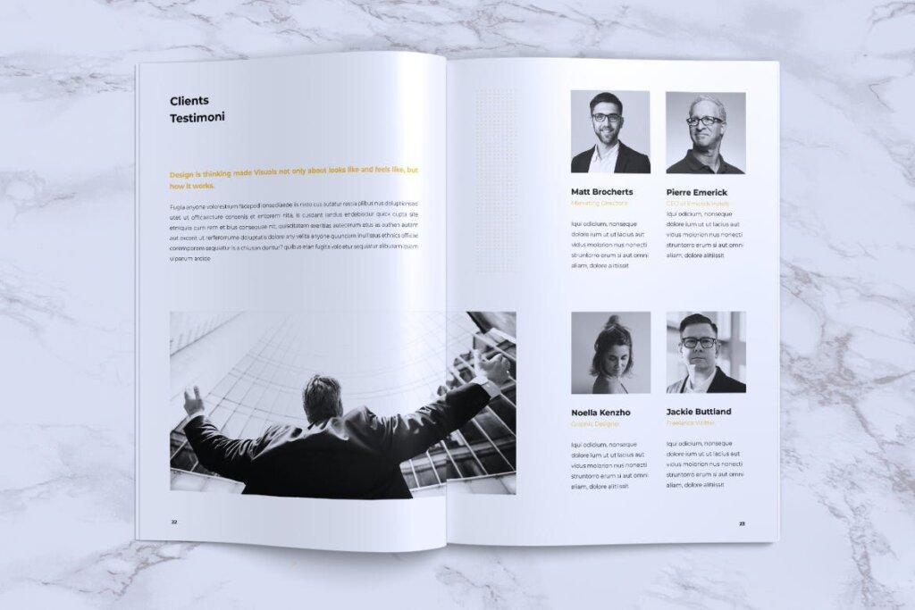 企业产品手册画册模板素材下载INFORM Company Profile Brochure插图(11)
