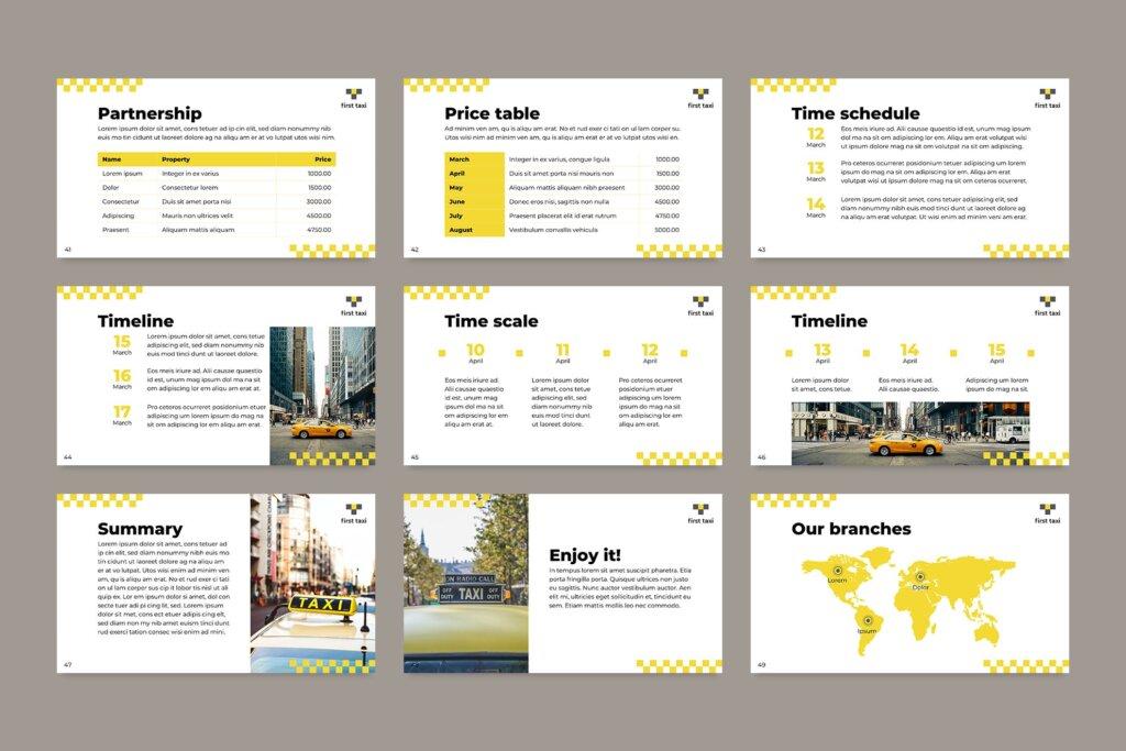 出租车行业数据大调查数据汇报幻灯片PPT模版Taxi Services PowerPoint Presentation Template插图(11)