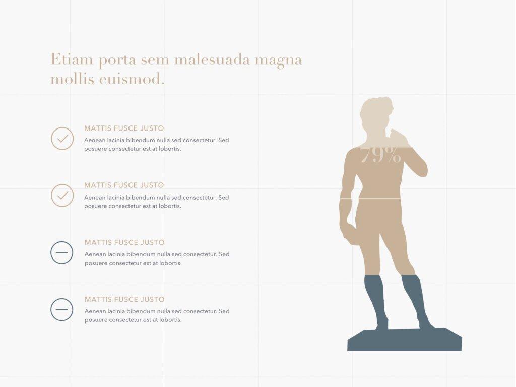 石膏像艺术概念主题幻灯片PPT模板素材下载Antique PowerPoint Template插图(12)
