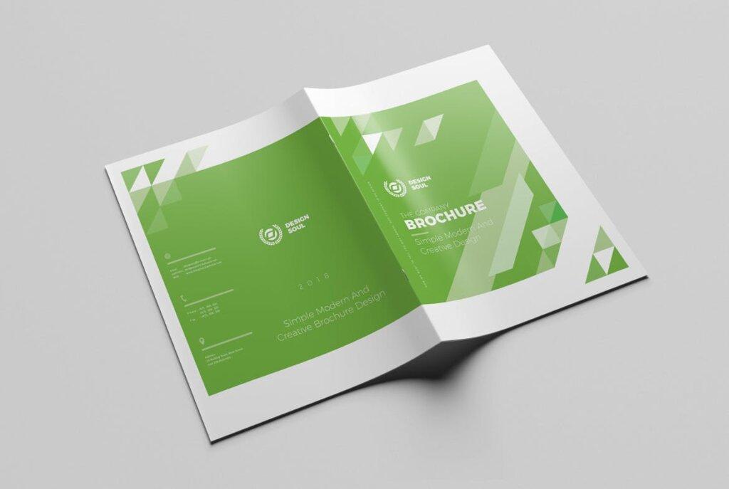 绿色环保简约杂志手册模板素材下载UXZT87插图(11)
