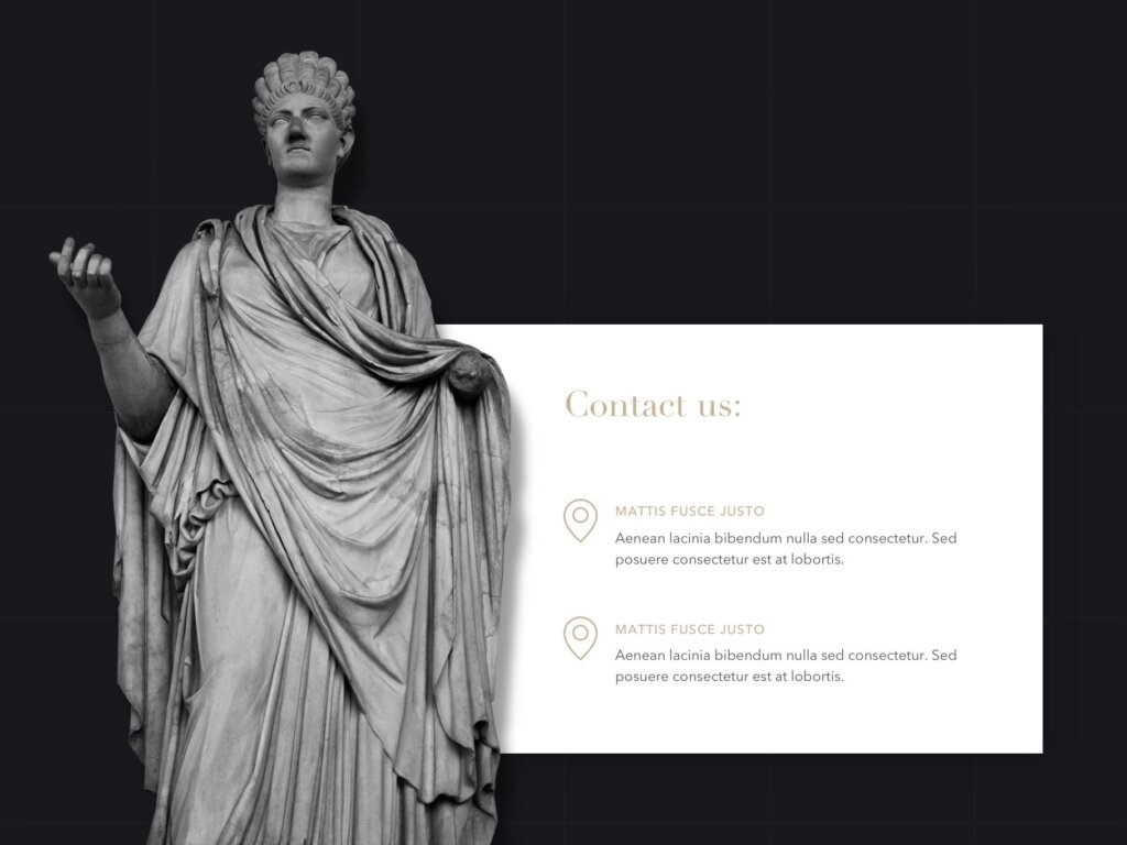 石膏像艺术概念主题幻灯片PPT模板素材下载Antique PowerPoint Template插图(15)