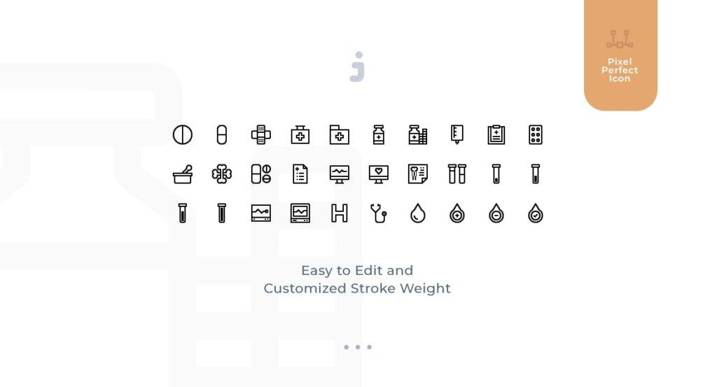 30个医疗系列创意图标矢量文件素材下载30 Medical Icons Material Icon插图(1)