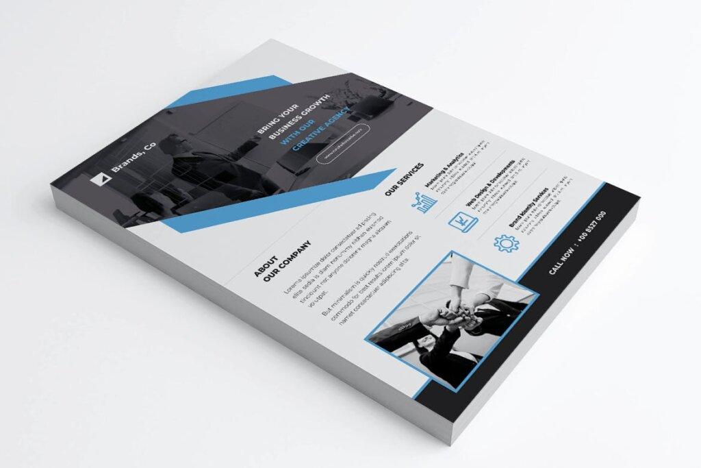 企业商务传单海报模板素材下载BRANDS插图(1)