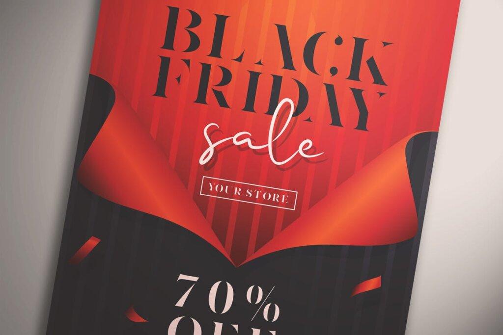 黑色星期五销售传单海报模版素材下载Black Friday Sale Flyer Vol 01插图(1)