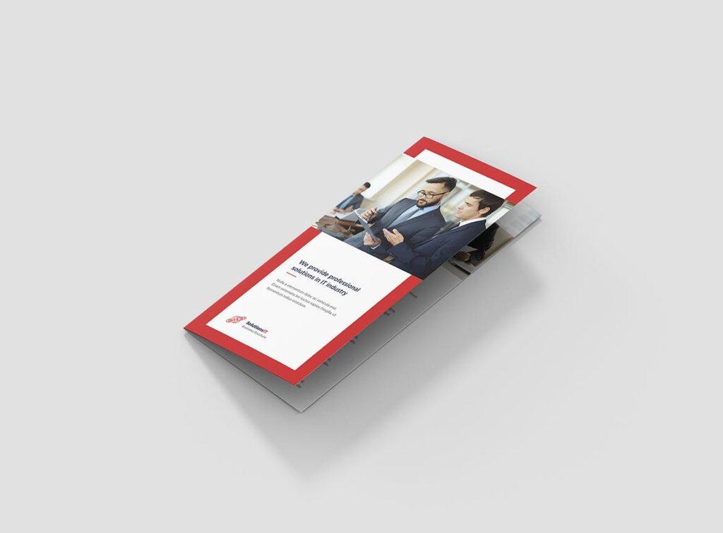 IT解决方案企业策划营销三折页模版素材下载Brochure IT Solutions Tri Fold插图(1)