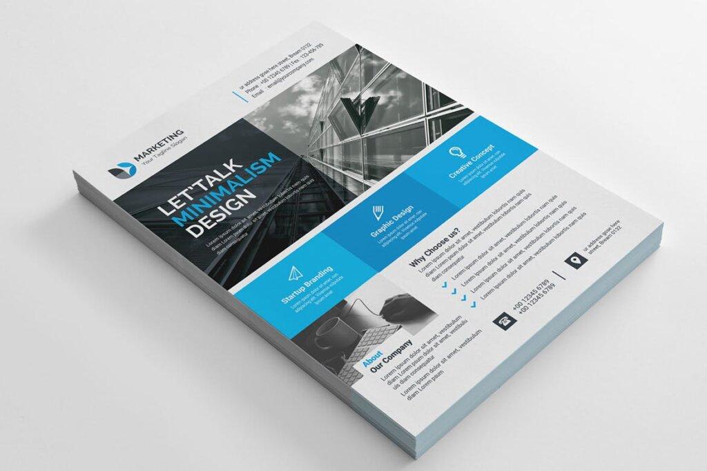 企业商务产品自由职业者海报模板素材下载Business Flyer Template 31插图(1)
