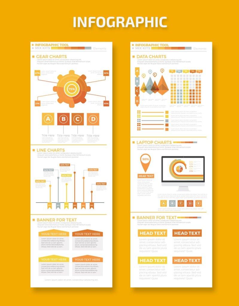 精致商务信息图表元素素材模板素材下载Business Infographics Elements插图(1)