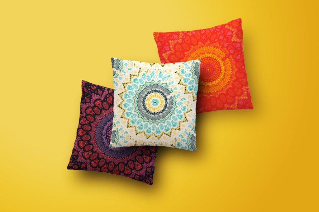 12个波西米亚风格装饰图案纹理素材Ethnic Seamless Pattern插图(1)