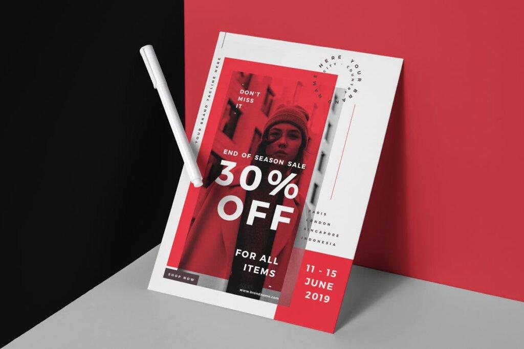国际服装大牌发布会/时装秀创意海报模板Fashion Flyer FY335E插图(1)
