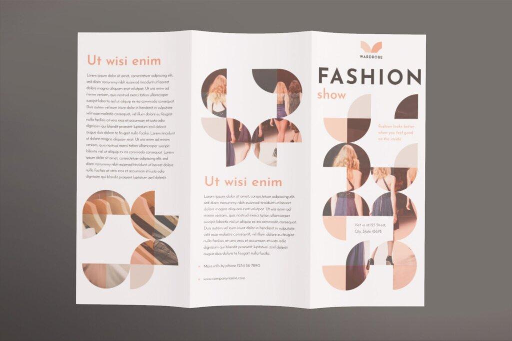 时尚企业商务折页海报折页模板素材下载57MXBWS插图(1)