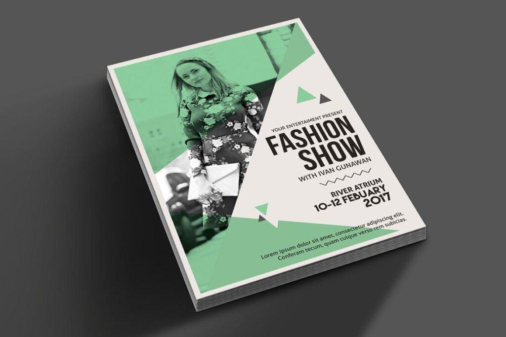 精致高端时尚服装秀海报传单模板素材下载Fashion Show Flyer 3RDJU6插图(1)