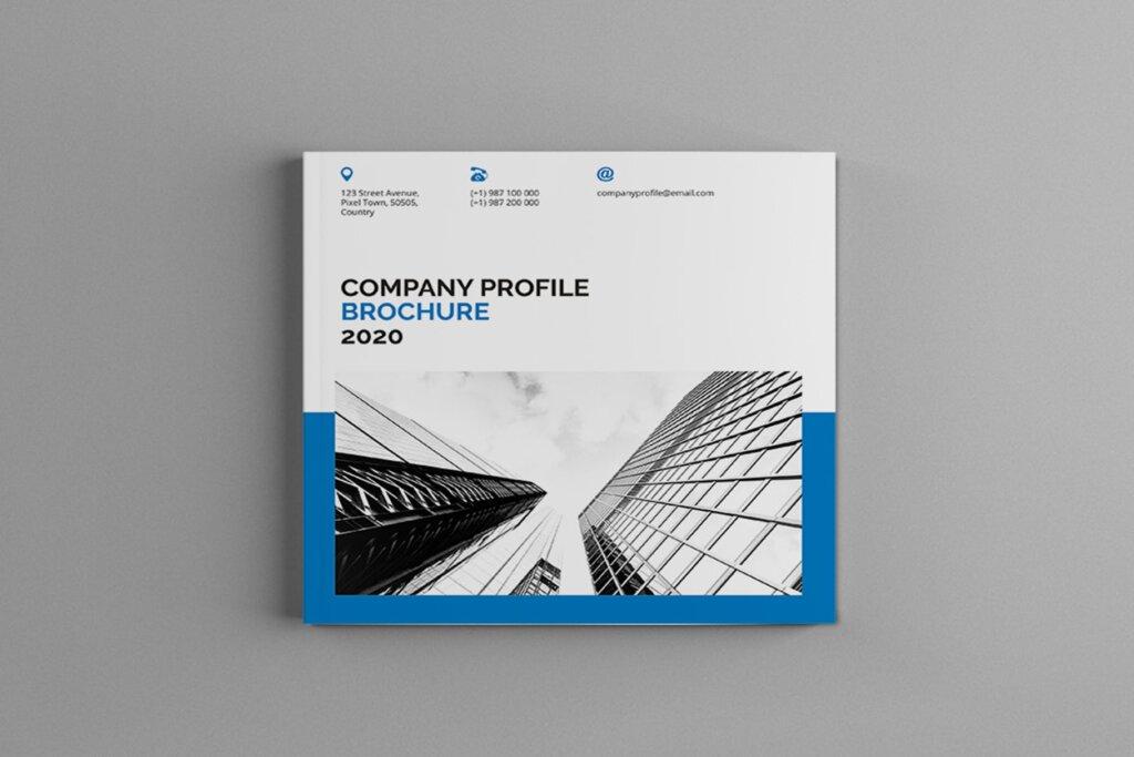 公司简介品牌宣传小册子模板素材Mavka Square Company Profile Brochure Template插图(1)