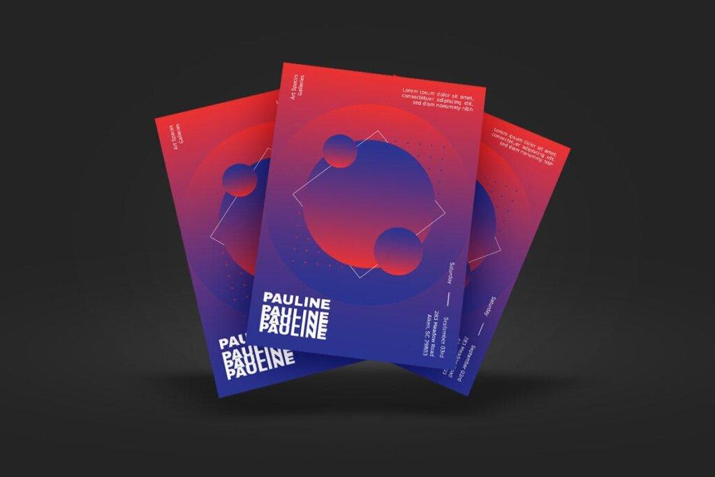 企业新产品发布会海报传单模板素材下载PAULINE Poster Design插图(1)