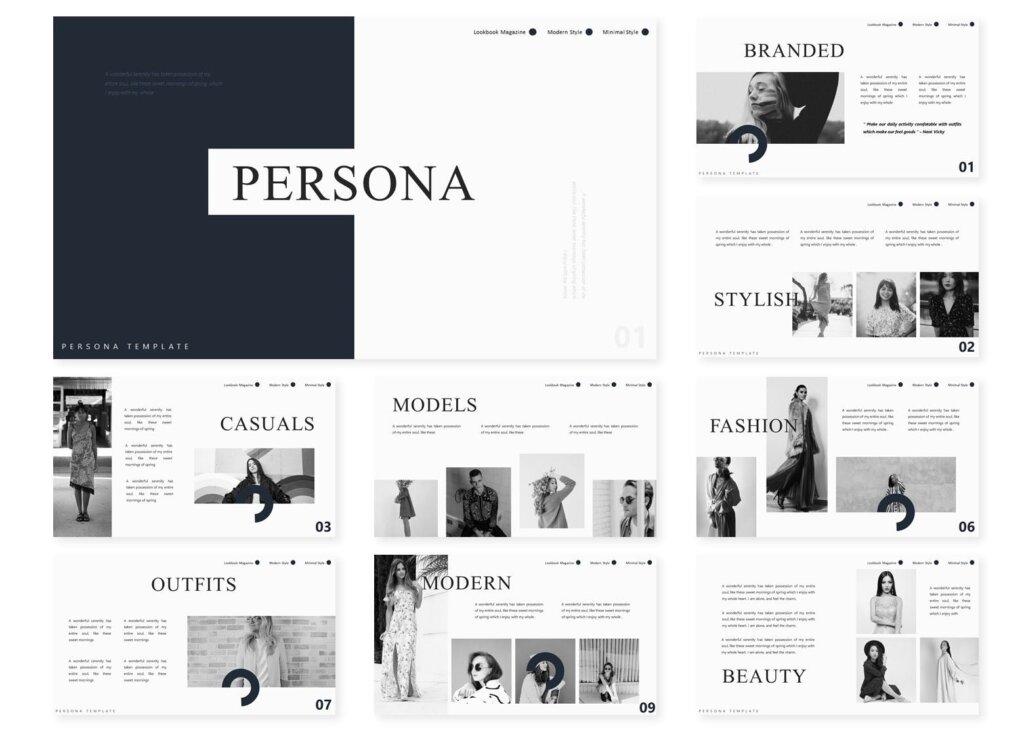企业市场策划模板幻灯片PPT模板素材xiaPersona Powerpoint Template插图(1)