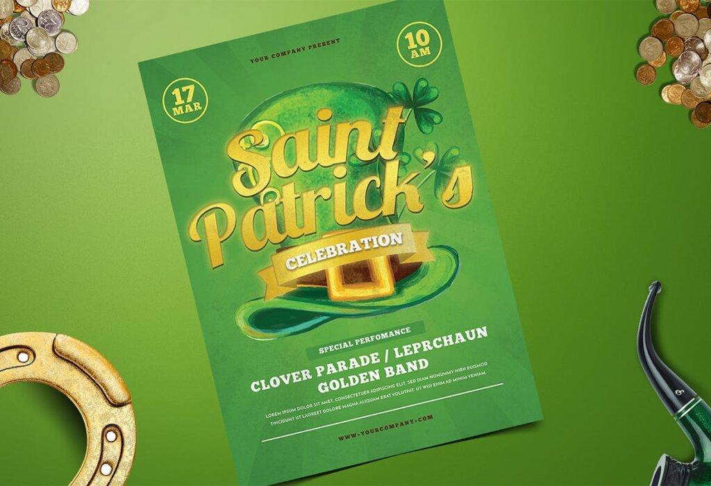 夏日啤酒派对传单海报模板素材Saint Patrick Celebration 5K976L插图(1)