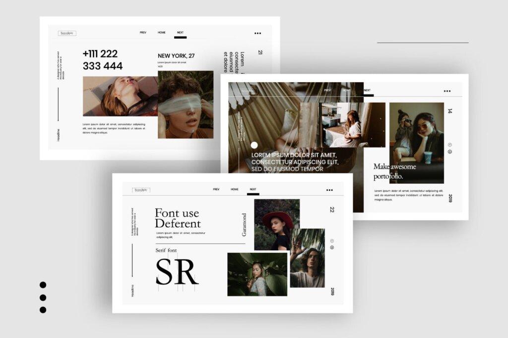 企业商务汇演素材PPT幻灯片模板Serendipity Modern Fashion Design Powerpoint插图(1)