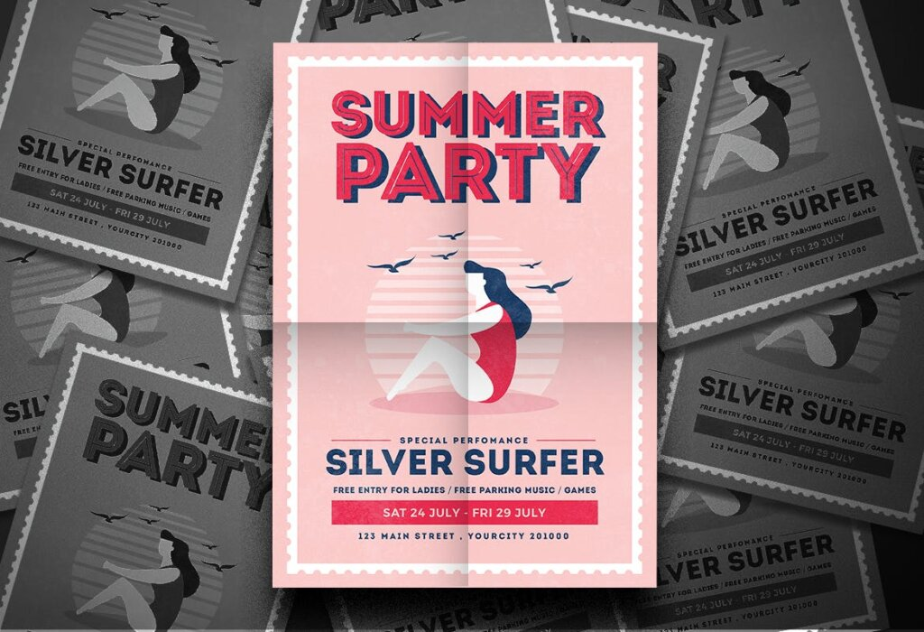 夏日派对海报素材模板Summer Vibe Flyer 6HENQQ插图(1)