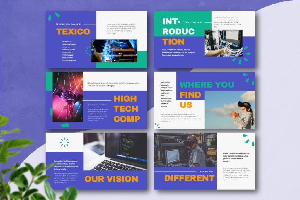 云概念云生活主题演讲幻灯片PPT模版TEXICO Technology Company Powerpoint Template插图(1)