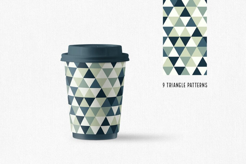 三角形平面构成图形图案纹理素材/品牌购物几何图形肌理图形纹理素材Triangle Patterns插图(1)