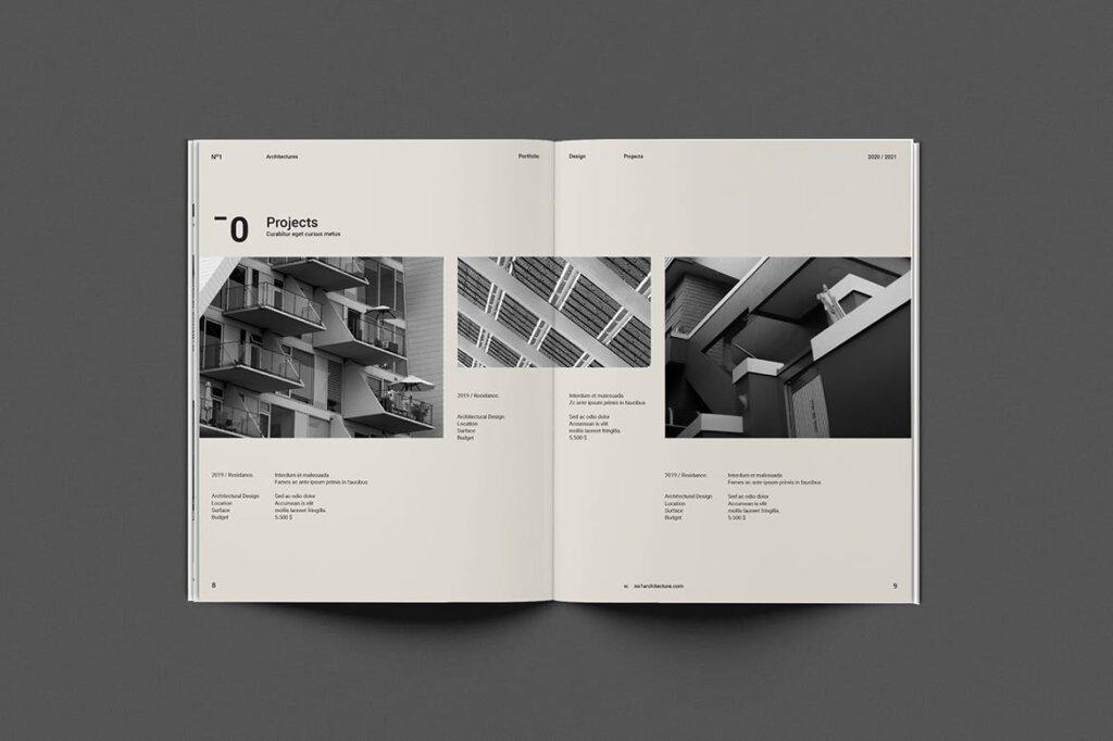 现代建筑艺术博物馆画册模板手册模板素材下载Architecture Brochure插图(2)