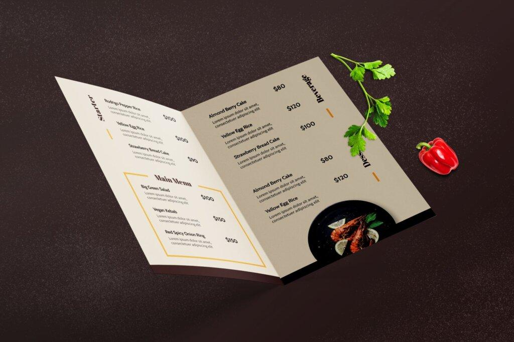 咖啡厅菜单/西餐美食料理模板素材下载HPBFAGX插图(2)