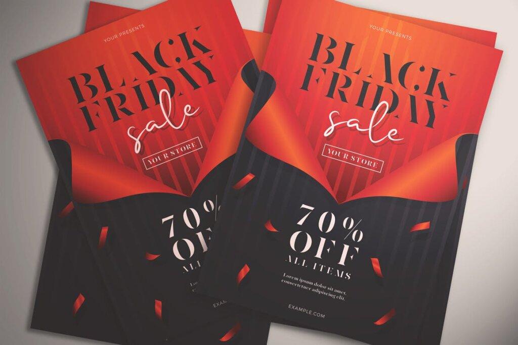 黑色星期五销售传单海报模版素材下载Black Friday Sale Flyer Vol 01插图(2)