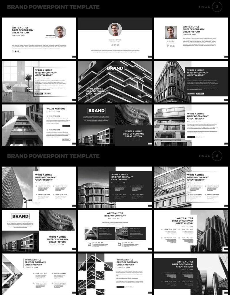 美食品牌幻灯片PPT模板素材下载Brand PowerPoint Presentation Template插图(2)