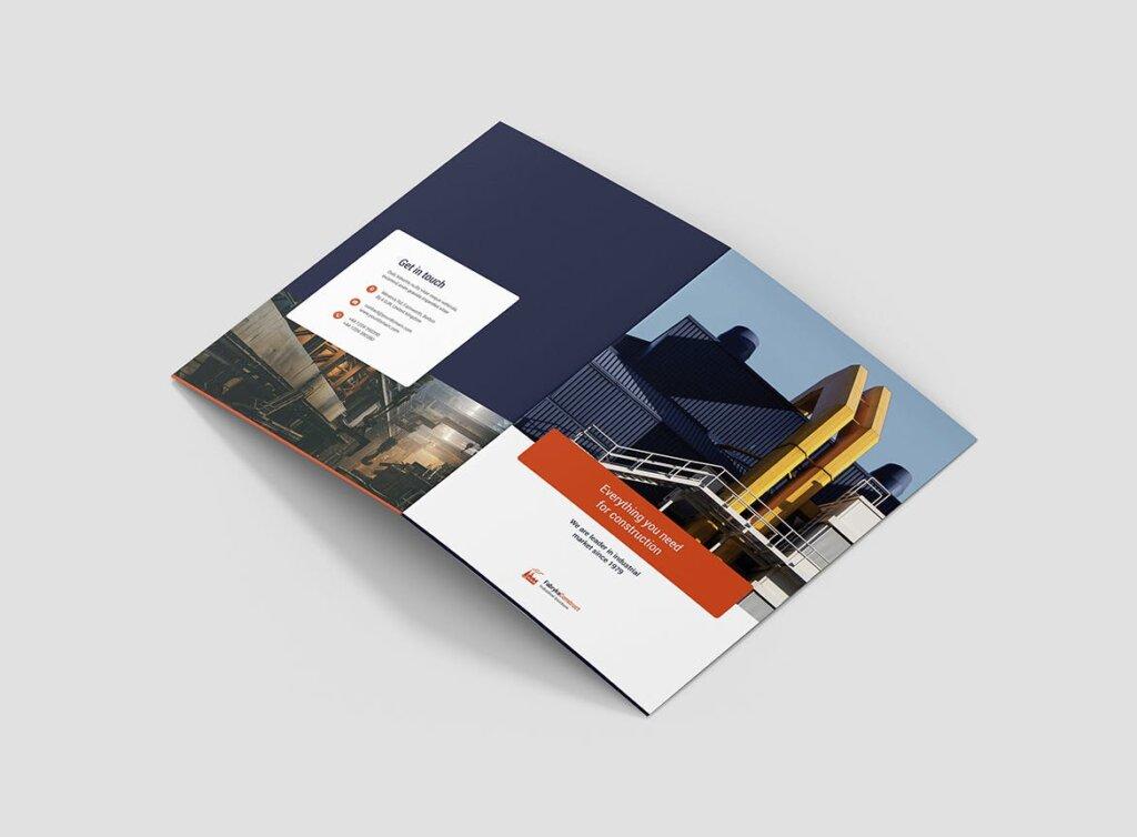 工业化生产市场营销品牌宣传模版素材下载Brochure Factory Bi Fold插图(2)