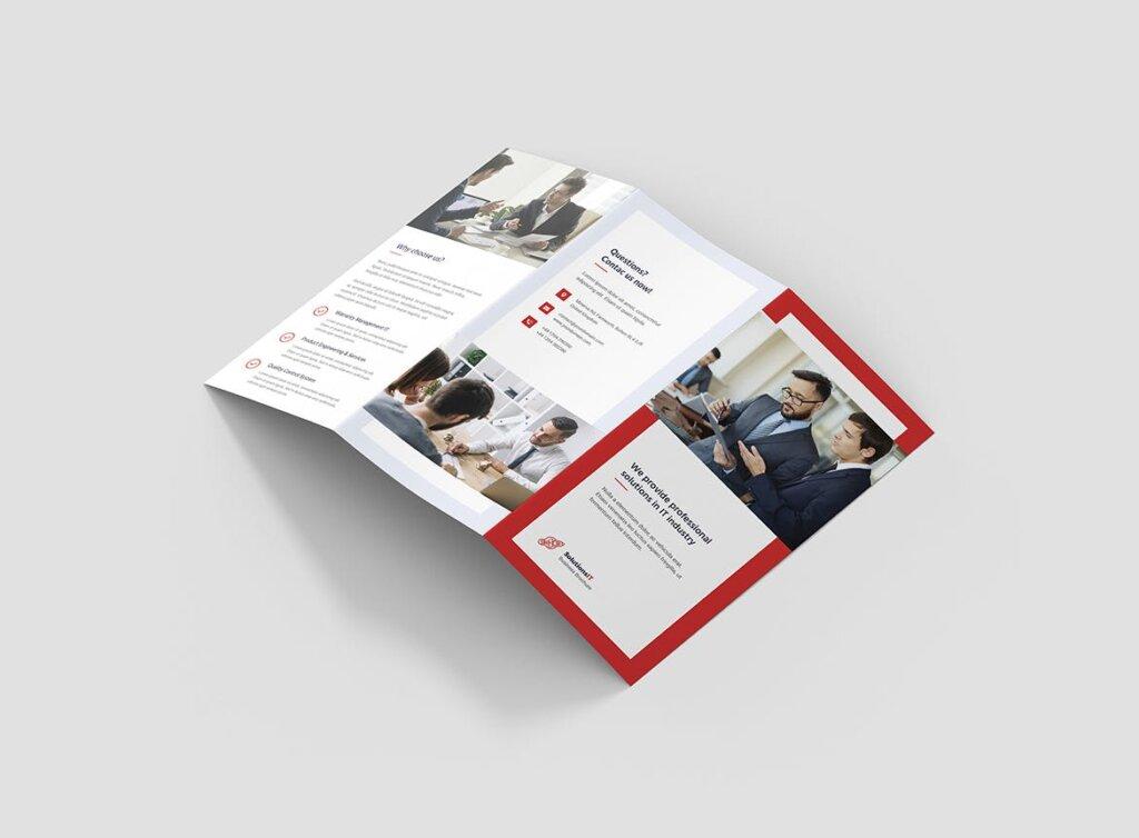 IT解决方案企业策划营销三折页模版素材下载Brochure IT Solutions Tri Fold插图(2)