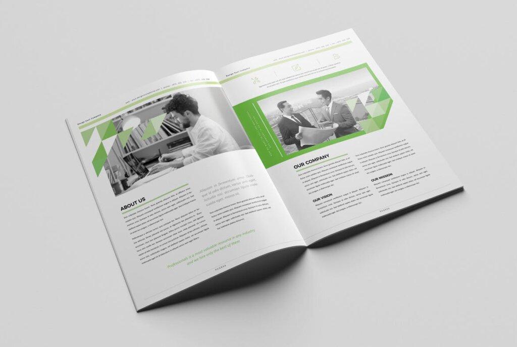 绿色环保简约杂志手册模板素材下载UXZT87插图(2)