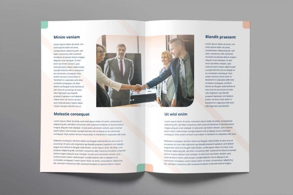 商业宣传双折页商务咨询模板素材下载Business Advisor Brochure Bifold插图(2)