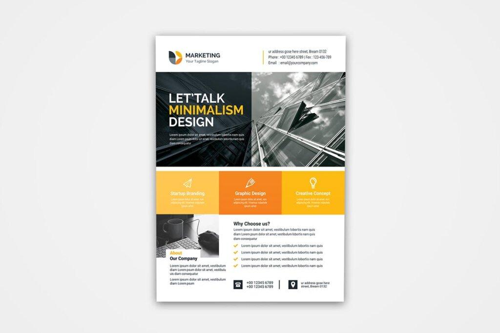 企业商务产品自由职业者海报模板素材下载Business Flyer Template 31插图(2)