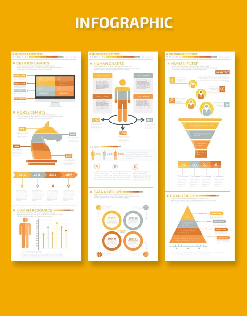 精致商务信息图表元素素材模板素材下载Business Infographics Elements插图(2)