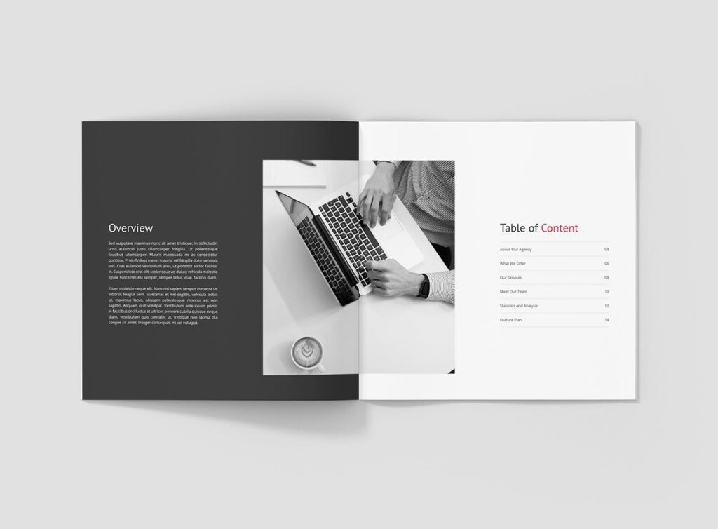 企业商务宣传手册模版素材下载Business Marketing Company Profile Square插图(2)